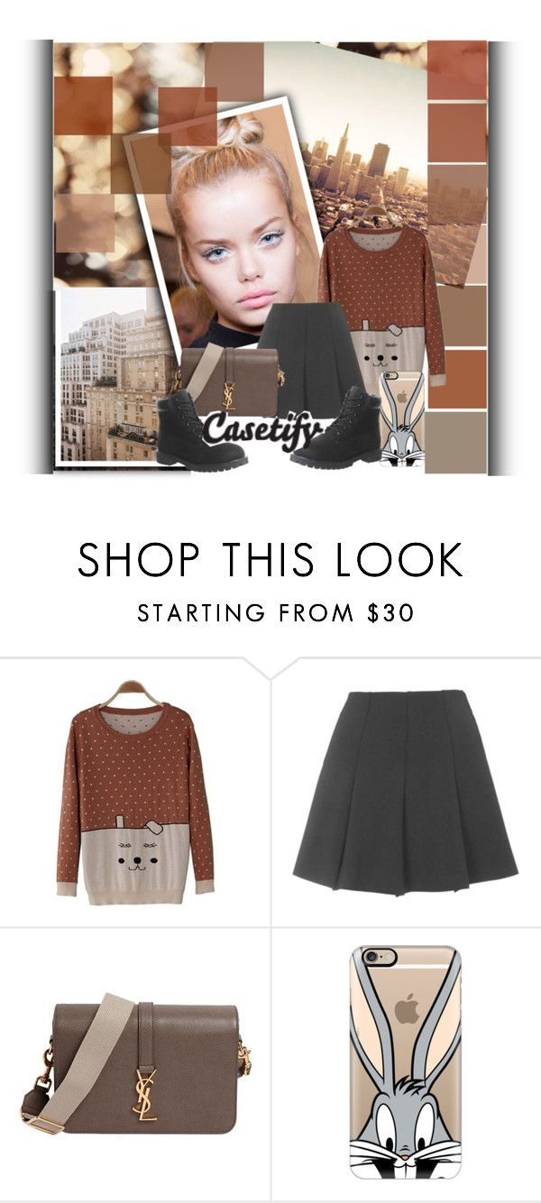 """""""Casetify"""" by diamond-flower ❤ liked on Polyvore featuring Topshop, Yves Saint Laurent, Casetify and Timberland"""