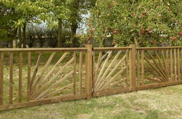 Clôture bois Roseaux avec lisse Opale #clôture #bois #nature ...