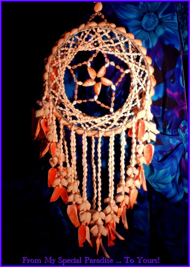 Hawaiian Dream Catcher Rare find hawaiian seashell dream catcher shells from haleiwa 1