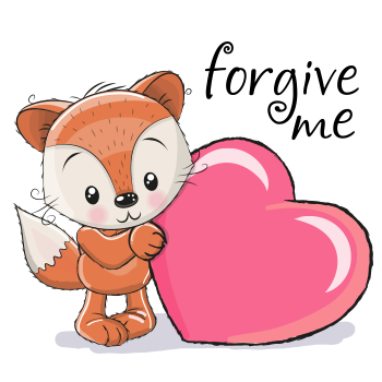 Forgive Me Fox Foxes Emoticon And Messages