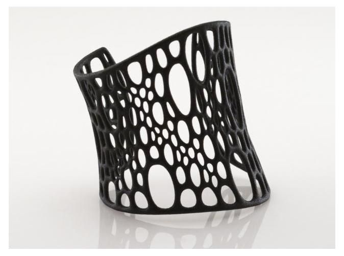 Subdivision Cuff. Loove! An intricate, organic cuff from Cell Cycle collection which was inspired by cellular forms. The C-shaped, flexible design fits close to the skin, is light-weight, and uses minimal material.