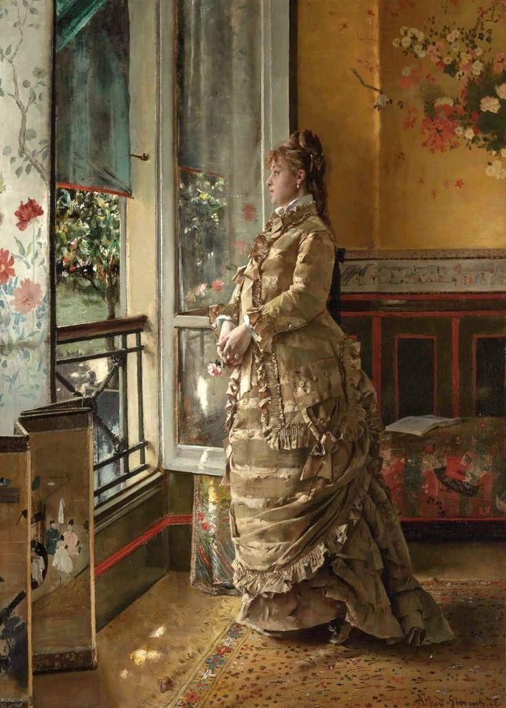Melancholy (Alfred Émile Léopold Stevens - 1876) ✿⊱╮