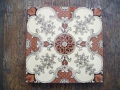 Early Original Antique Mintons China Works Tile c1890s with Ornate Design | eBay