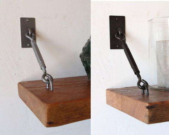 Turnbuckle Shelf Brackets For Floating Shelves By Silicatestudio Idei Dlya Doma Dlya Doma Stol Iz Trub