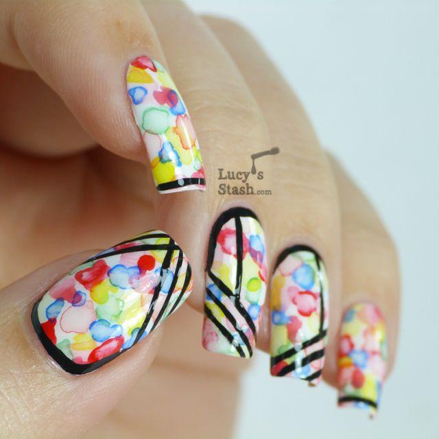 Lucy S Stash Watercolour Aquarelle Nail Art Manicure Manicure