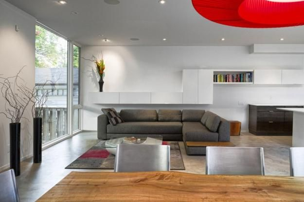 Contemporary House Design In Minimalist Zen Style Harmonized With Red  Accents Part 50