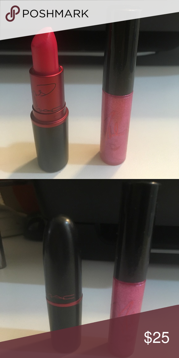 MAC Miley Cyrus lipstick and lipglass MAC VIVA GLAM Miley