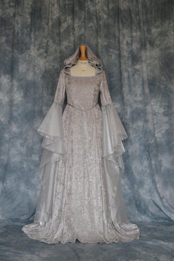 Ceara, a Pagan, Medieval, Elvish Hand Fasting, Wedding Dress with ...