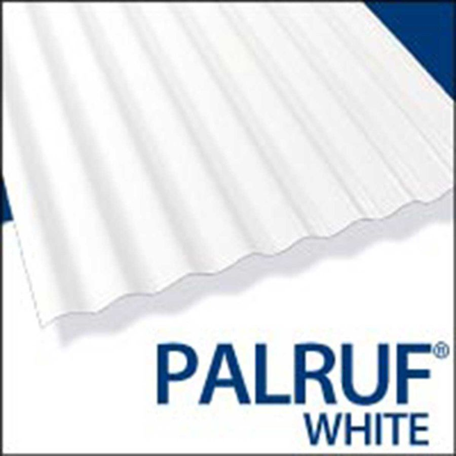 Palram Americas 101336 Palruf Pvc Panel 8 Ft X26 White At Sutherlands Roof Panels Pvc Panels Diy Roofing