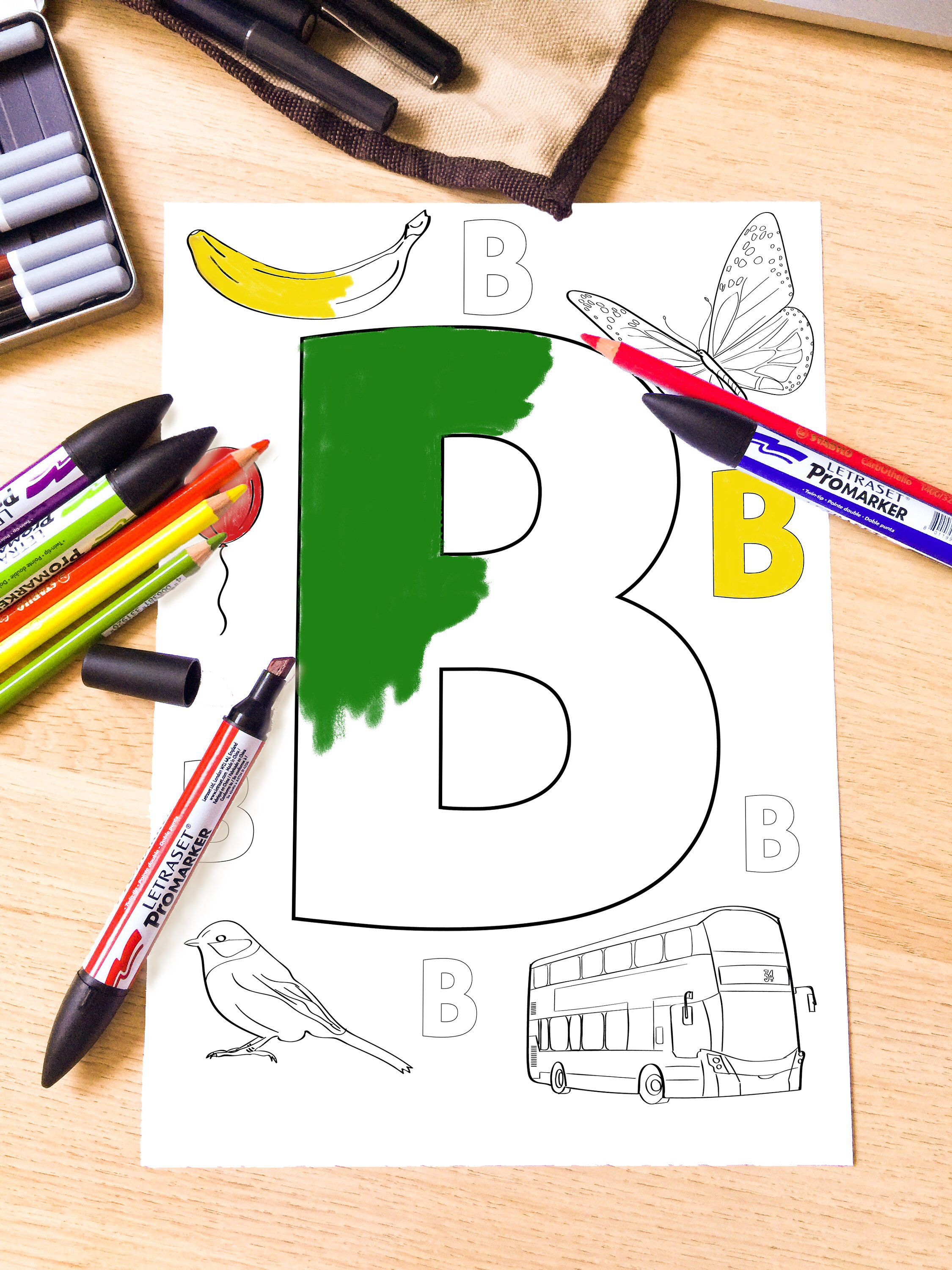 Alphabet Coloring Pages, Activity Pages for Toddlers and Preschool ...