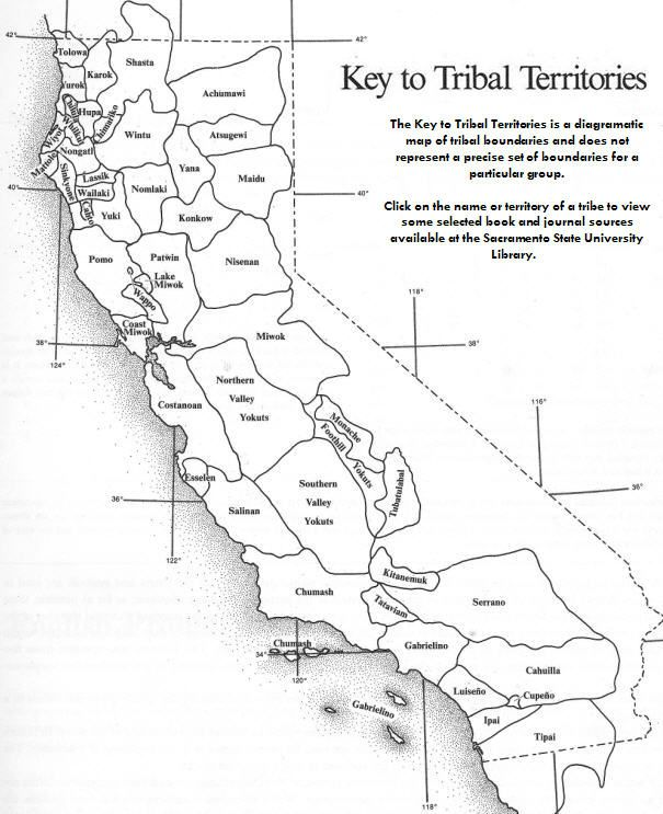 Key To Tribal Territories Map Google Search California