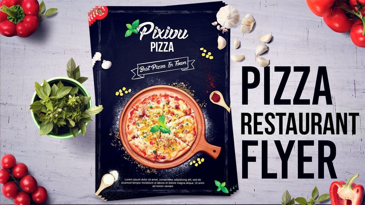 Learn how to design a pizza restaurant flyerposter in adobe learn how to design a pizza restaurant flyerposter in adobe photoshop tutorials 4k resolution baditri Gallery