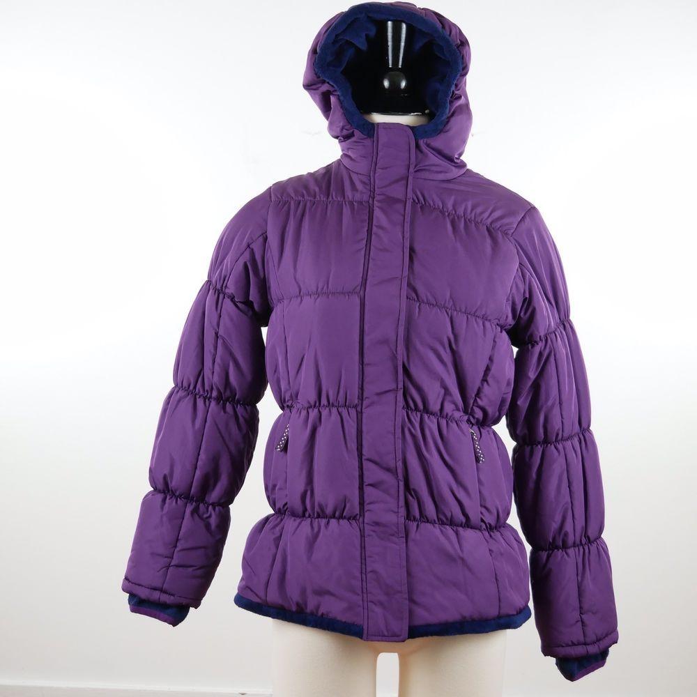Lands End Kids Girl 14l Fleece Lined Puffer Jacket Coat Outerwear Purple Grape Jackets Line Jackets Puffer Jackets [ 1000 x 1000 Pixel ]