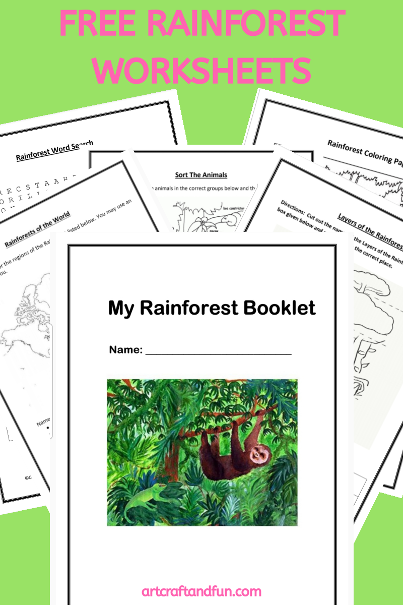 Free Printable Rainforest Worksheets in 2020 Free