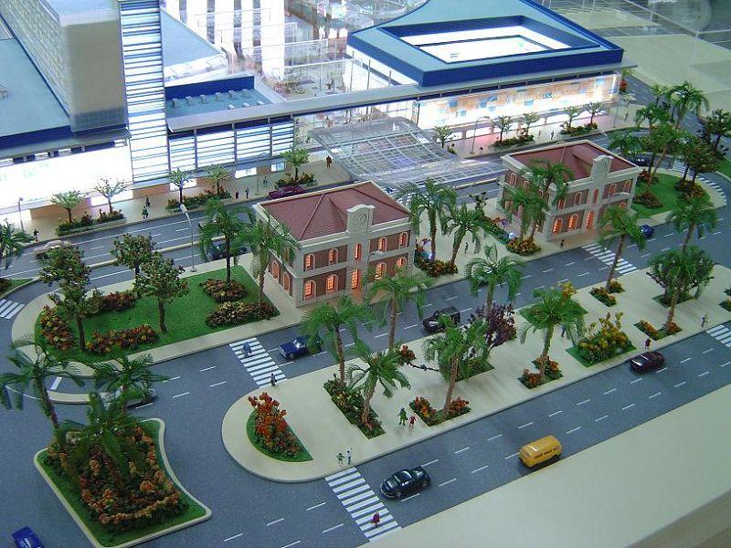 maqueta de centro comercial