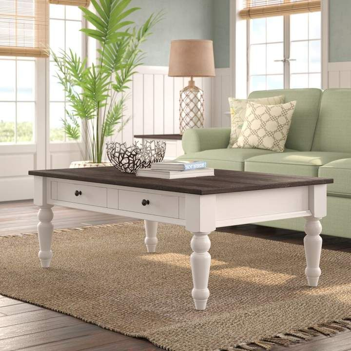 Beachcrest Home Mulford Coffee Table With Storage With Images