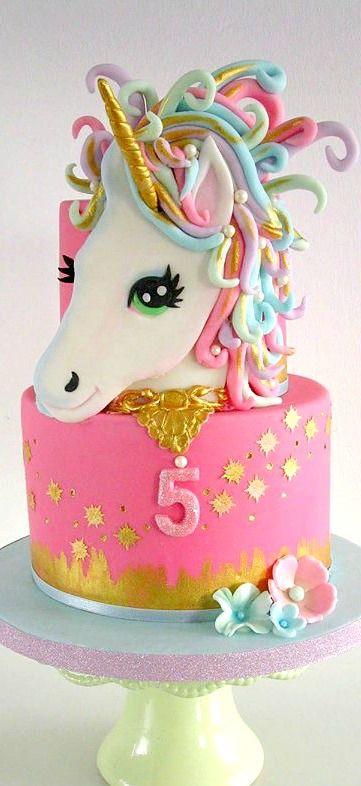 Stupendous Unicorn Cake With Images Unicorn Cake Cake Birthday Cake Kids Birthday Cards Printable Inklcafe Filternl