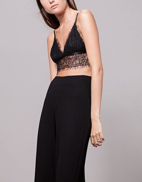 42ccc200ea342 At Stradivarius you ll find 1 Frayed Lace Bralette for just 12.99 United  Kingdom . Visit now to discover this and more Bralettes and Bandeau .
