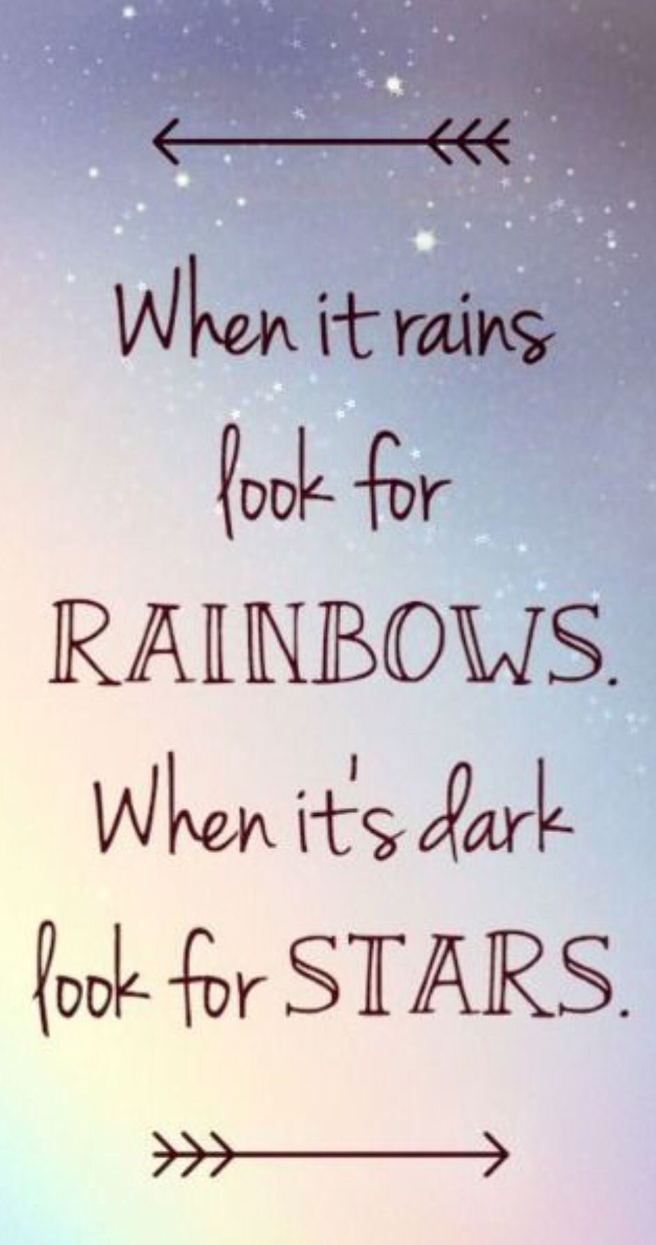 Captivating When It Rains Look For Rainbows, When Its Dark Look For Stars Quote Always  Look For The Brighter Side Of Things, Since After Rain There Are Always  Rainbows, ...