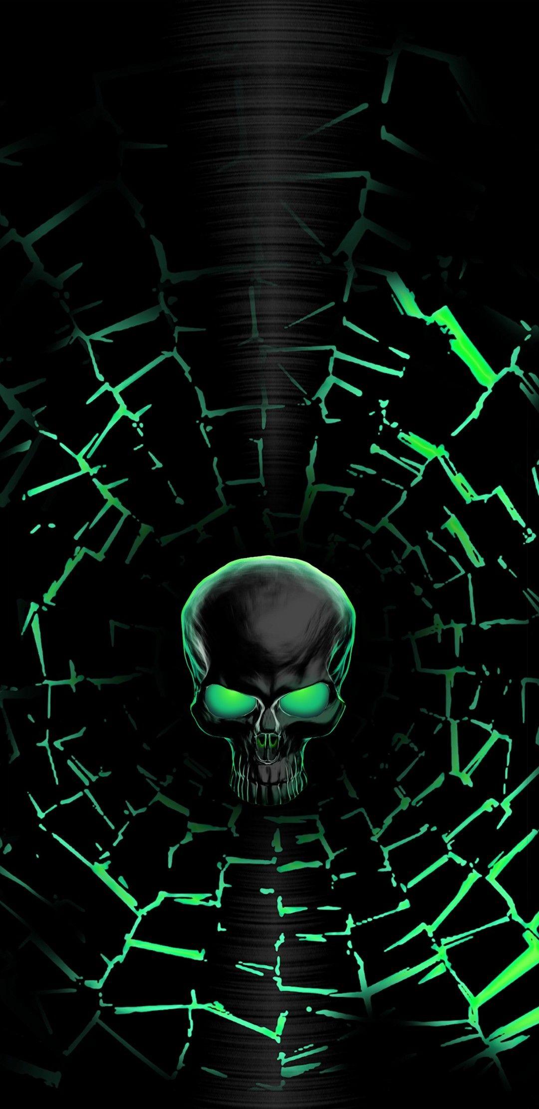 Love Green Skulls Skull Wallpaper Skull Art Skull Artwork