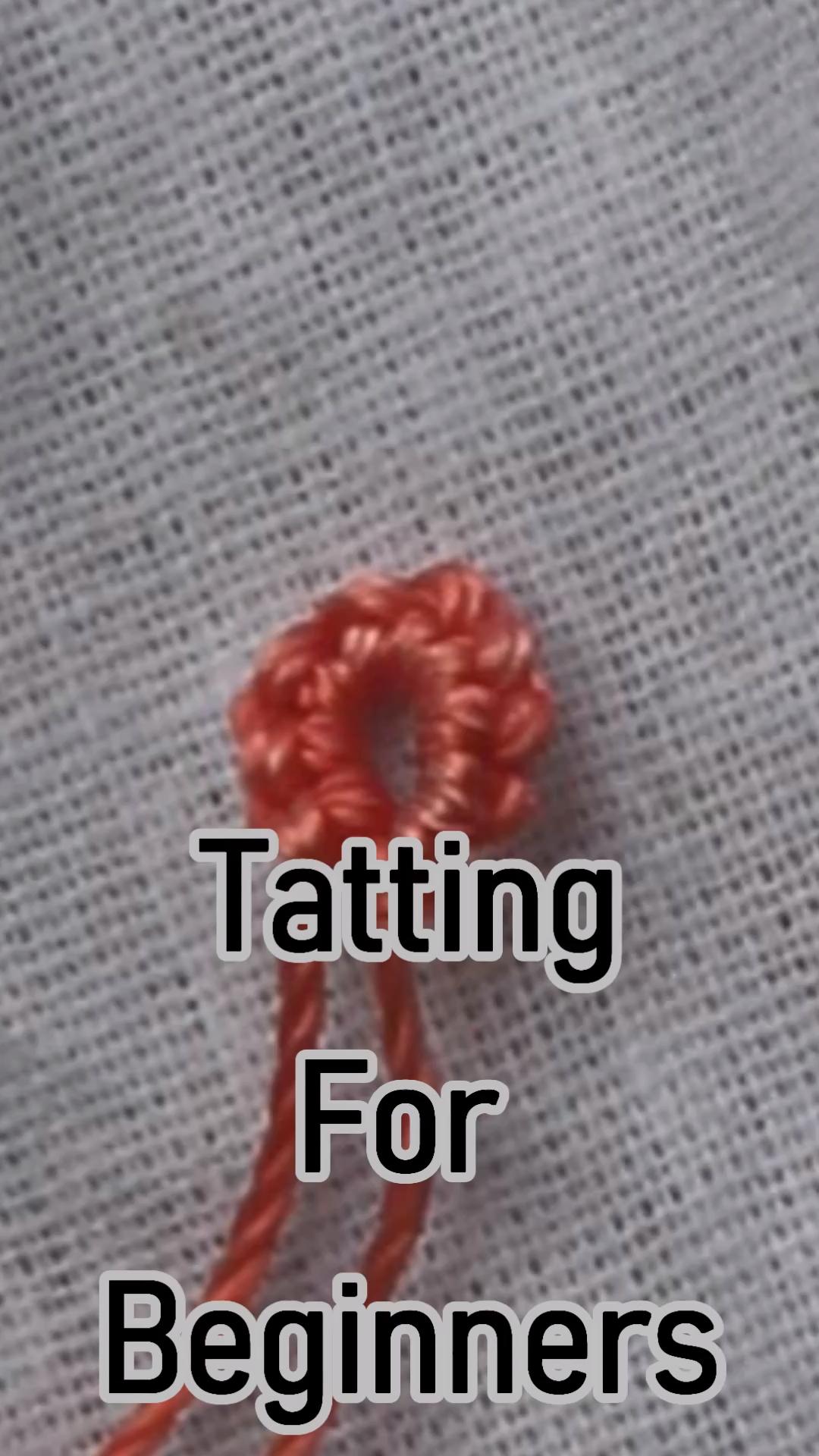 #Tatting For beginners #tatting