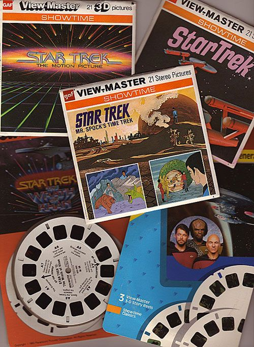 View-Master Star Trek packets. | View master, Retro toys, Old toys