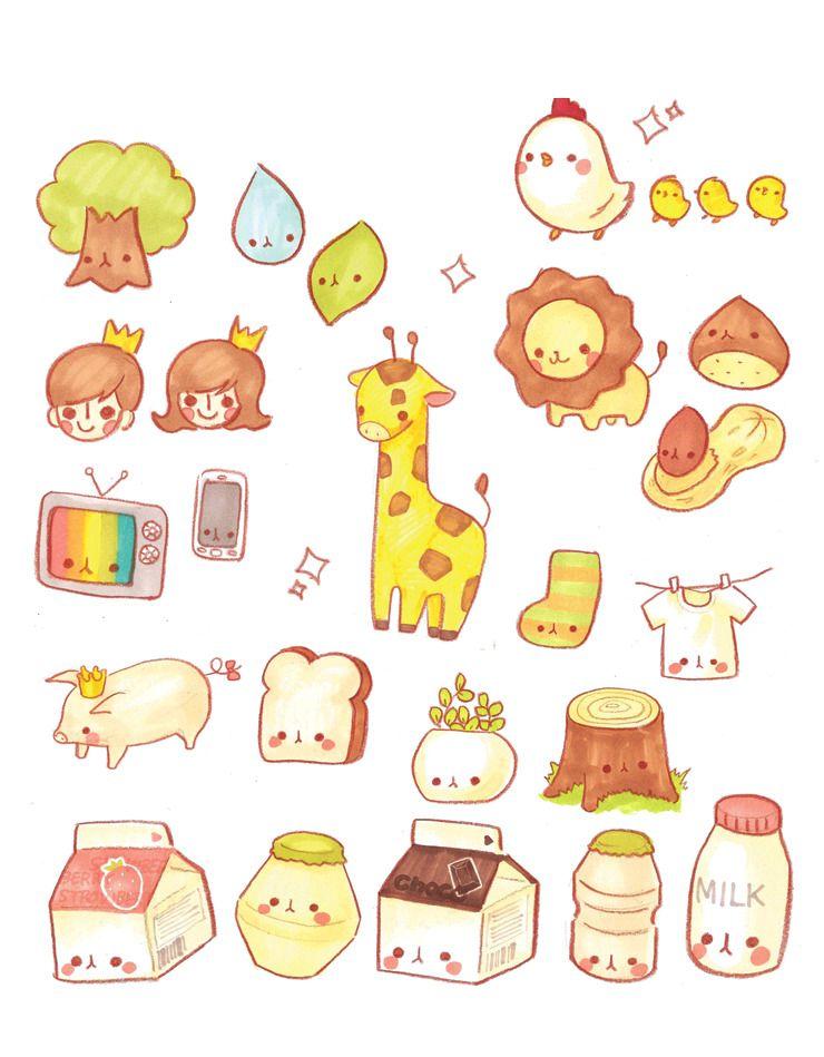 Картинки для срисовки няшные предметы