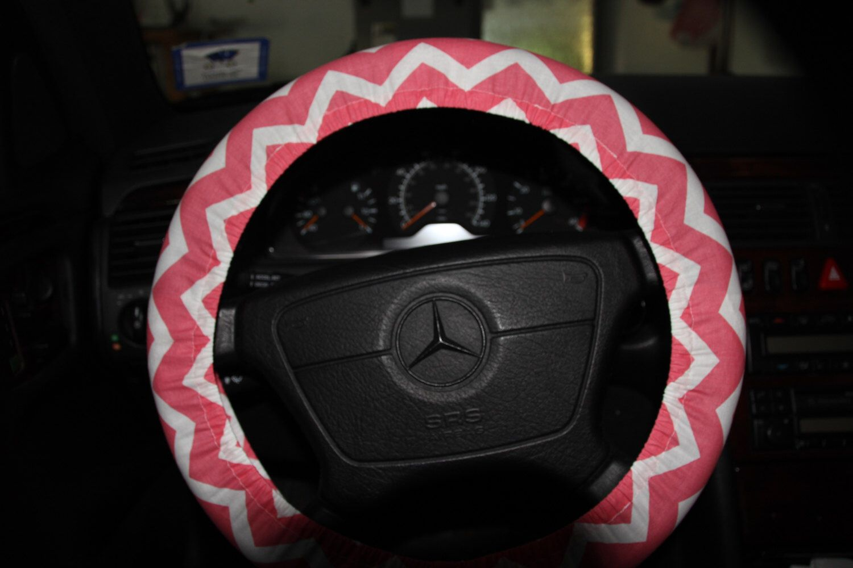Cute Chevron Steering Wheel Cover.. Definitely Want!