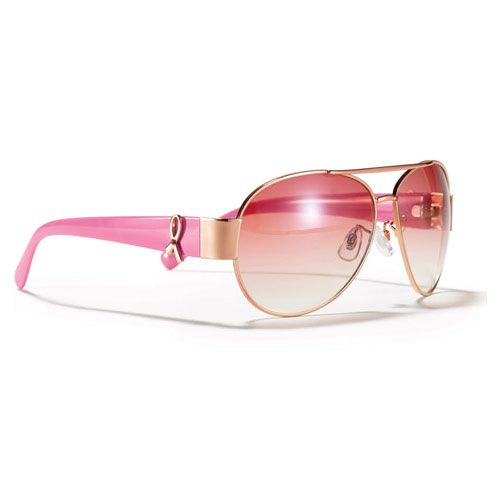 Breast Cancer Aviator Sunglasses | AVON. Breast cancer ribbon logo on the arms (plastic). Metal with plastic flash lenses. Comes with pouch for travel. Imported. $2.40 will be donated to the Avon Breast Cancer Crusade. Avon has raised more than $321 million for the Avon Breast Cancer Crusade through the sale of Avon Pink Ribbon products. Help support today! www.youravon.com/lalbrecht. #breastcancercrusade