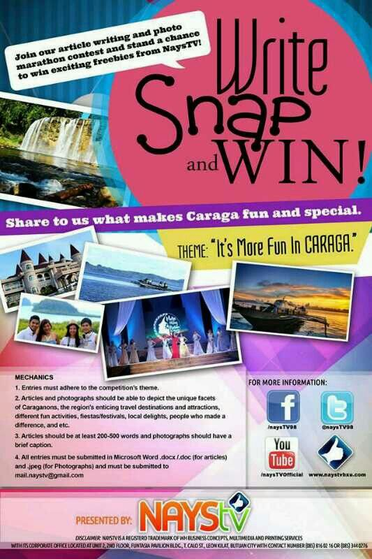 Share to us what makes Caraga fun and special. Submit your entries now at NaysTV.