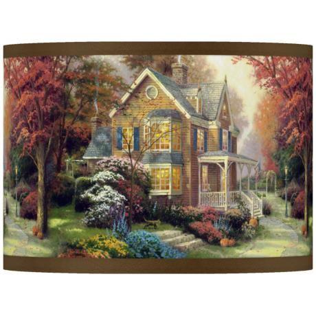 Thomas Kinkade Victorian Autumn Shade 13.5x13.5x10