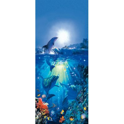 Ideal Decor Dolphin in the Sun Wall Mural by Brewster Home Fashions