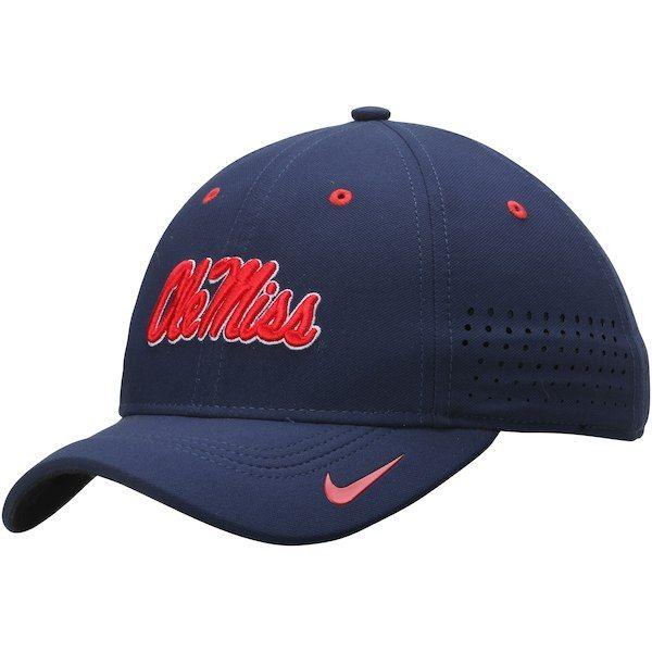 a46d8b694ec Ole Miss Rebels Nike Youth Sideline Swoosh Performance Flex Hat - Navy   OleMissRebels
