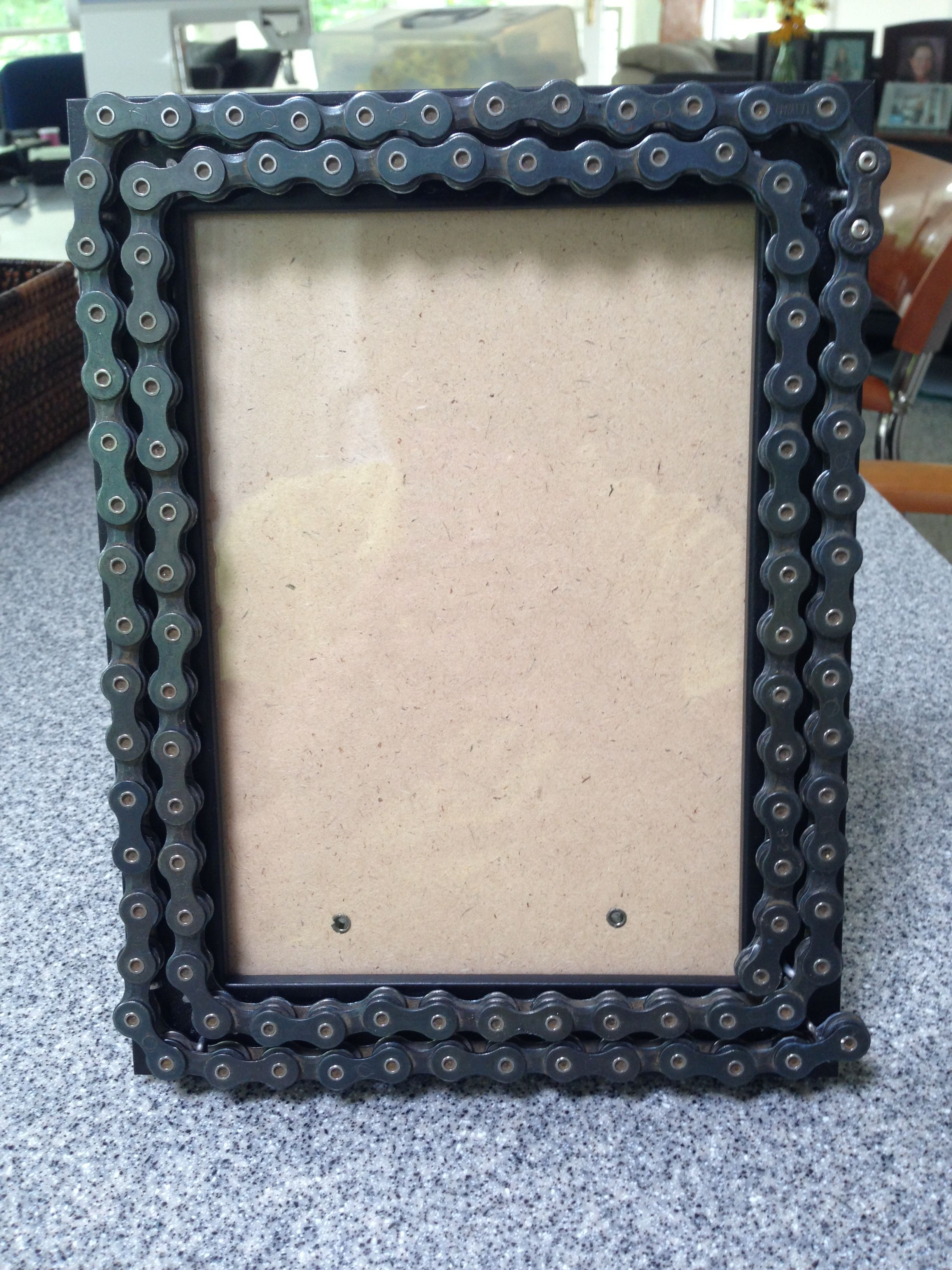 diy bike chain picture frame | Nicki\'s Projects | Pinterest | DIY ...