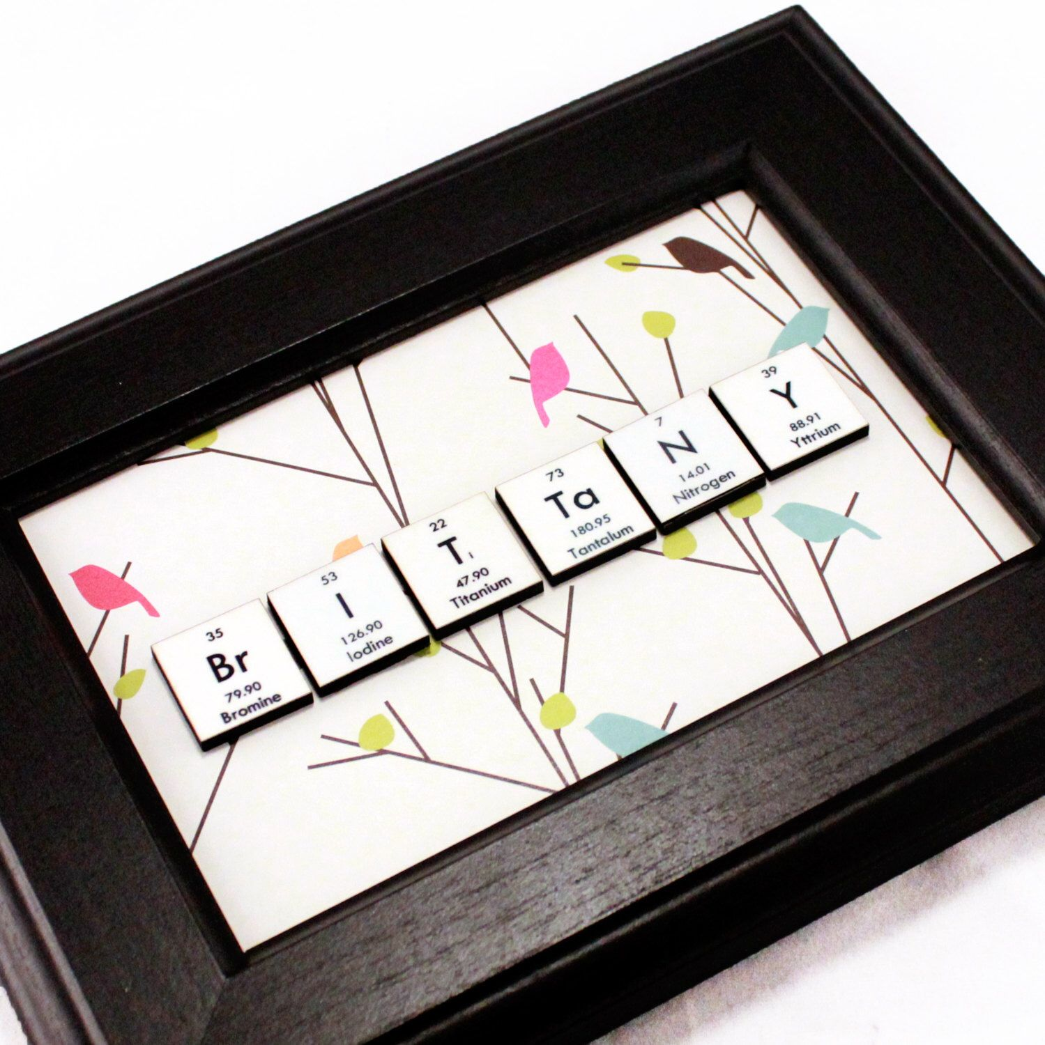 Chemistry science giftpersonalized periodic table of elements chemistry science giftpersonalized periodic table of elements name signscience decorgeekypretty birds gamestrikefo Choice Image