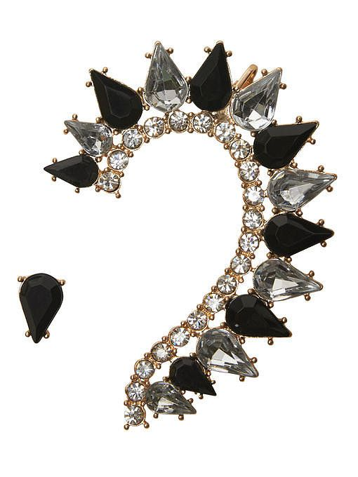 The Ear Cuff Is the New Statement Necklace: Jeweled studs and even chandelier earrings don't have the same shock-and-awe value of our new favorite accessories.