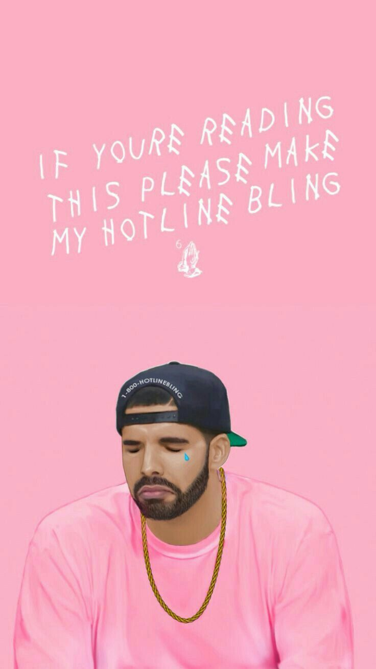 DRAKE HOTLINE BLING PINK WALLPAPER Drake wallpapers