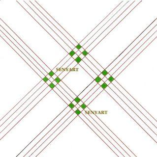 almofada capitone laços na diagonal