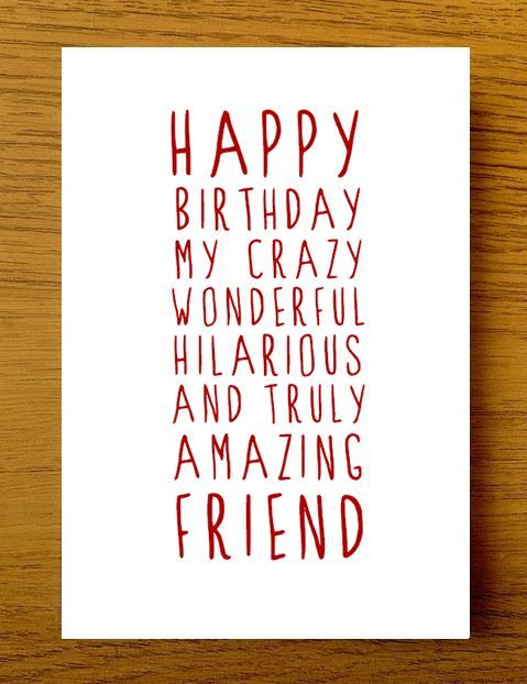 Sweet Description Happy Birthday Friend Card | Happy birthday quotes