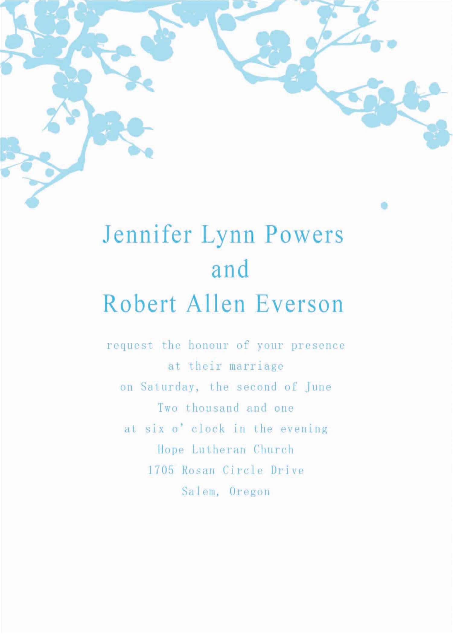 Collection of thousands of Free Affordable Wedding Invitation Online ...