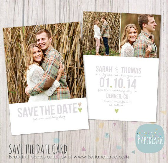 Save The Date Card Template Aw007 Instant Download In