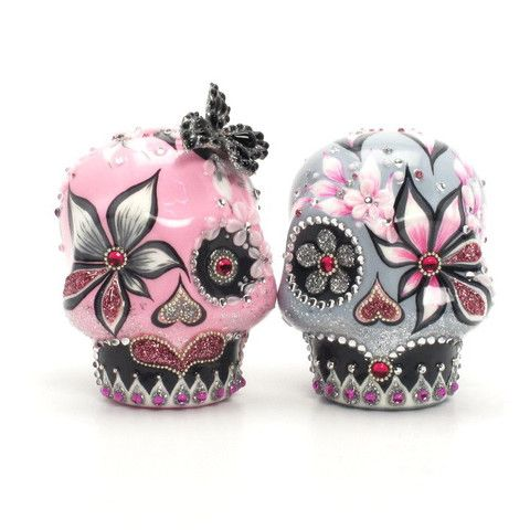 www.goodiemud.com Dia De Los Muerto Skull Wedding Cake Topper ...