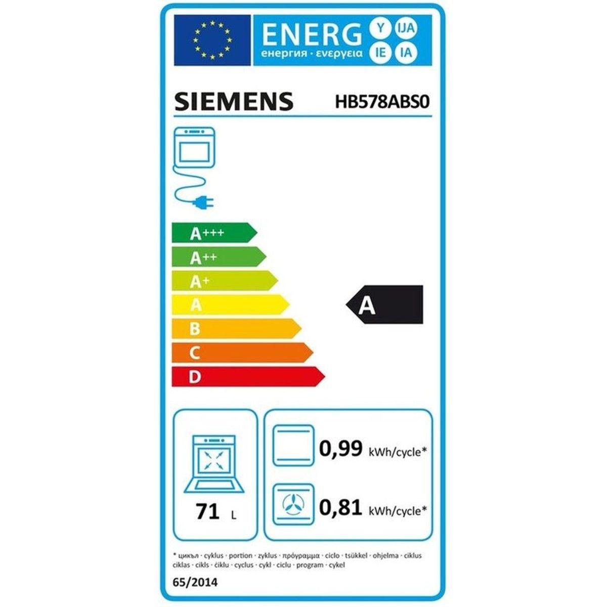 Four Encastrable Siemens Hb578abs0 Taille Tu Four