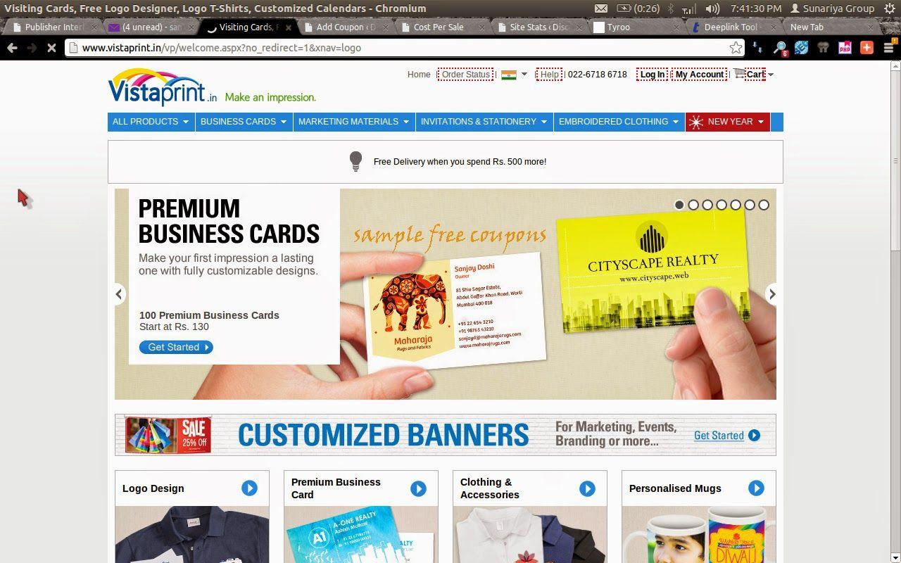 Vistaprint Visitenkarten Promo Code Zusammen Mit Vistaprint 500
