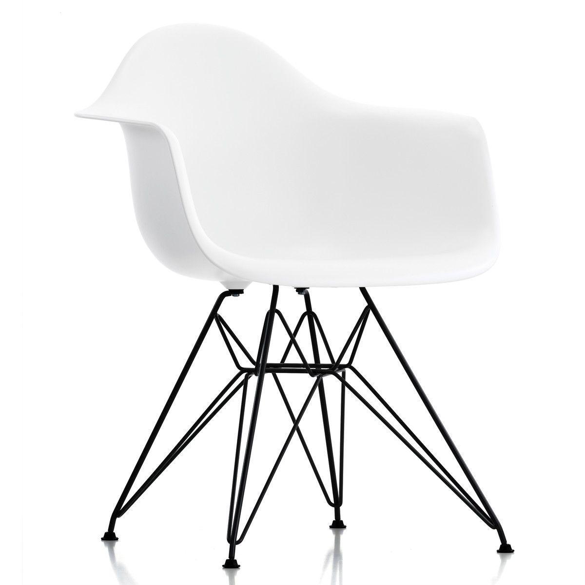 Vitra Eames Plastic Armchair Dar Pulverbeschichtet Weiss Filzgleiter Schwarz Esszimmerstuhle Stuhle Eames