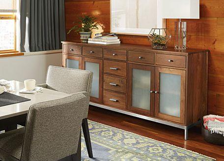 Linear Classic Custom Cabinets   Dining Storage   Custom   Room U0026 Board