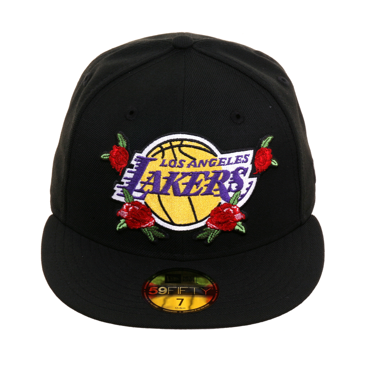 Exclusive New Era 59fifty Los Angeles Lakers Floral Hat Black 40 00 New Era 59fifty Los Angeles Lakers Lakers