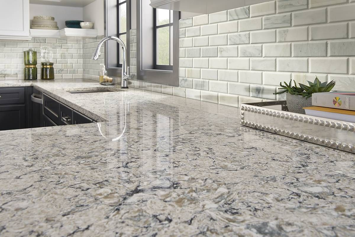 Arabescato Carrara Marble 2x4 Honed And Beveled Mosaic Tile Sheets Feature A White Background Wit Kitchen Remodel Countertops Antique White Kitchen Countertops