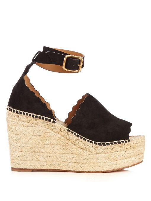 28f16c0a9b5 CHLOÉ Lauren suede espadrille wedge sandals.  chloé  shoes  sandals