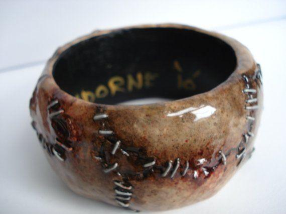 Flesh with Stitches Large Bracelet